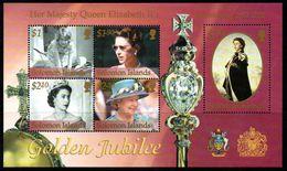 Solomon Islands 2002 Royal Golden Jubilee MS, MNH, SG 1011 (B) - Solomon Islands (1978-...)