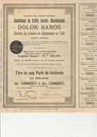LOT DE 10 ACTIONS SOCIETE DE CULTURE DE CAOUTCHOUC ET CAFE - ANNEE 1910 - LA HAYE -PAYS-BAS - Agriculture