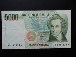 ITALIE : 5000 LIRE  12.1.1988   P 111b / CI 76 BS 541 *    TTB+ - [ 2] 1946-… : Républic