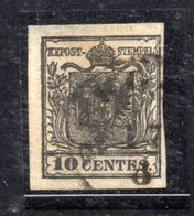 ASI4 - LOMBARDO VENETO , Il 10 Cent N. 2 Usato. - Lombardo-Veneto