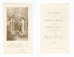 Sottevast, Communion Solennelle D' Auguste GODEFROY, 1929, Citation Abbé Hugonin, H. Bonamy 1013 - Images Religieuses