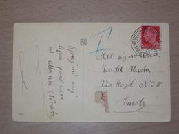 ISTRIA CROAZIA STORIA POSTALE CARTOLINA CON ANNULLO VILLA DEL NEVOSO (B) FIUME (B) FIUME - 1900-44 Victor Emmanuel III