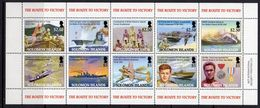 Solomon Islands 2005 60th Anniversary Of End Of WWII Sheetlet Of 10, MNH, SG 1114/23 (B) - Solomon Islands (1978-...)