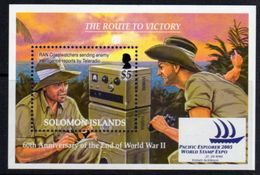Solomon Islands 2005 60th Anniversary Of End Of WWII MS, MNH, SG 1124 (B) - Solomon Islands (1978-...)
