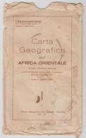 Carta Geografica Dell'Africa Orientale -1935, V Edizione. - Carte Geographique