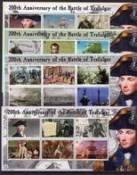 Solomon Islands 2005 200th Anniversary Of Battle Of Trafalgar Set Of 5 Sheetlets Of 6, MNH, SG 1087/1110 (B) - Solomon Islands (1978-...)