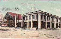 Indiana Muncie Terminal Station 1909 - Muncie