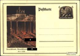 Deutsches Reich P250 Amtliche Postkarte Gebraucht 1934 Machtergreifung - Germany