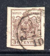 ASI5c - LOMBARDO VENETO , Il 30 Cent  Usato. - Lombardo-Veneto