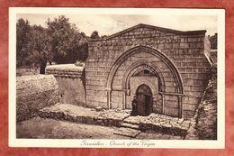 Jerusalem, Church Of The Virgin, Marien Grabeskirche, EF Koenig Davids Zitadelle, Jerusalem Nach Hamburg 1929 (49453) - Palästina