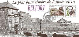 France Oblitération Cachet à Date BF N° F 4697 - Plus Beau Timbre De L'année, Belfort - Usados