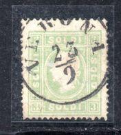 ASI7 - LOMBARDO VENETO 1862, Il 3 Soldi  Usato N. 35. Pieghe - Lombardo-Veneto