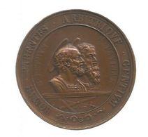 Médaille Du VATICAN , Bronze , PIO IX , 1867, ROMAE PARENTES ARBITIQUE GENTIUM, FRAIS F 4.85e - Other