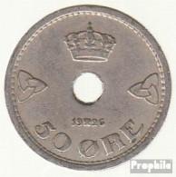 Norwegen KM-Nr. : 386 1926 Sehr Schön Kupfer-Nickel 1926 50 Öre Gekrönte Monogramme - Norwegen