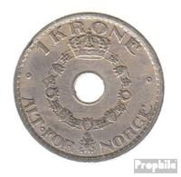Norwegen KM-Nr. : 385 1925 Sehr Schön Kupfer-Nickel 1925 1 Krone Gekrönte Monogramme - Norwegen