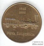Slowenien KM-Nr. : 29 1996 Stgl./unzirkuliert Nickel-Messing Stgl./unzirkuliert 1996 5 Tolarjev Eisenbahn - Slowenien
