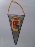 Banderín De Principado De Andorra. Años '60-'70 - Escudos En Tela