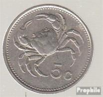 Malta KM-Nr. : 77 1986 Stgl./unzirkuliert Kupfer-Nickel 1986 5 Cent Emblem - Malte