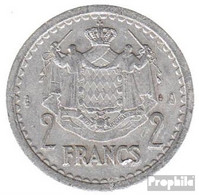Monaco KM-Nr. : 121 1945 Vorzüglich Aluminium-Bronze 1945 2 Francs Louis II. - Monaco