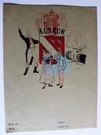 Ancien Protège Cahier écolier Alsace Provinces De France Saverne Haguenau Selestat Murbach Thann Colmar - Buvards, Protège-cahiers Illustrés