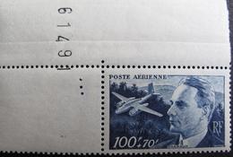 LOT FD/1618 - 1947 - POSTE AERIENNE - N°22 COIN DE FEUILLE NEUF** - Poste Aérienne