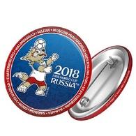 Russia 2018 World Cup 2018 Zabivaka Head Kicking, 44 Mm, Blue-red Patch, Badge - Russia