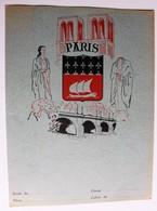Ancien Protège Cahier écolier Paris Provinces De France Etoile Bastille Opéra Invalides Tour Eiffel Sacré Coeur - Vloeipapier