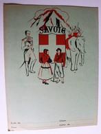 Ancien Protège Cahier écolier Savoie Provinces De France Thonon Mégève Moutiers Chambéry Modane St Julien - Blotters