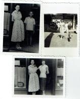 Foto/Photo. Saigon 1951 Et 49. Femme Et Magasin. Lot De 3 Photos. - Places