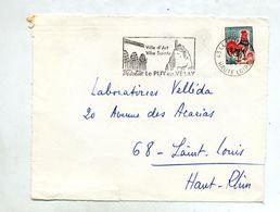 Devant De Lettre Flamme  Le Puy Ville D'art - Postmark Collection (Covers)