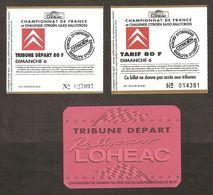 Billets D'entrée Championnat De France & Challenge CITROËN SAXO De Rallycross De Loudéac Du 6 Sept 1998 - Tickets D'entrée