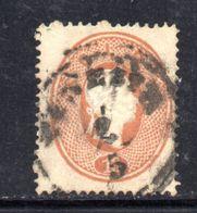 ASI9b - LOMBARDO VENETO 1861, Il 10 Soldi  Usato N. 34. Difetto Di Trasparenza - Lombardo-Veneto