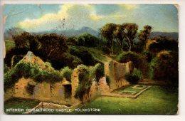OLD 1906 POSTCARD INTERIOR OF SALTWOOD CASTLE FOLKESTONE KENT NR DOVER SANDGATE HYTHE - - Folkestone