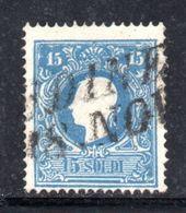 ASI11b - LOMBARDO VENETO 1859, Il 15 Soldi  Usato N. 32.  II° Tipo - Lombardo-Veneto
