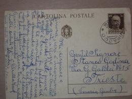SLOVENIA STORIA POSTALE INTERO POSTALE CON ANNULLO DI VIPACCO GORIZIA - Marcophilia