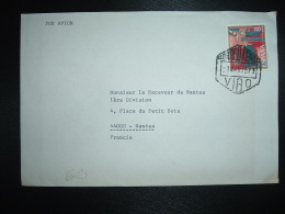 LETTRE TP 8 P OBL. HEXAGONALE 1 MAR 75 CORREO AEREO VIGO - 1931-Aujourd'hui: II. République - ....Juan Carlos I