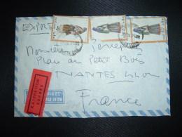 LETTRE POSTE RESTANTE AIGION GRECE Par Avion EXPRES Pour La FRANCE TP 6 50 X2 + TP 1 50 OBL.30 IX 74 - Covers & Documents