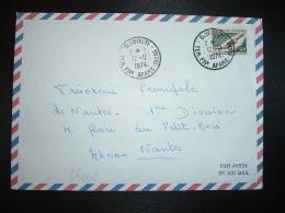 LETTRE Par Avion Pour La FRANCE TP POIGNARD AFAR 30F OBL.12-12 1974 DJIBOUTI TER. FRs AFARS ISSAS - Afars Et Issas (1967-1977)