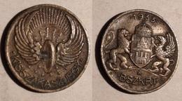 TOKEN JETON GETTONE TRASPORTI TRANSIT UNGHERIA 1933 - Monétaires / De Nécessité