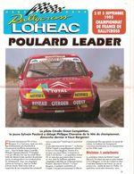 Programe Du Championnat De France De Rallycross LOUDEHAC 2/3 Sept 1995 POULARD Leader Sur CITROËN - Livres
