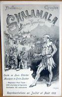 SUISSE SWISS  REGION DE BULLE ET  GRUYERE CHALAMALA THEATRE AOUT 1910 FOLKLORE SPECTACLE CARTE ILLUSTREE - Autres