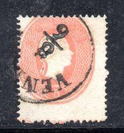 ASI16a - LOMBARDO VENETO 1861, Il 5 Soldi  Usato N. 33. Esemplare Dall'ultima Riga Del Foglio - Lombardo-Veneto