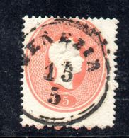 ASI16b - LOMBARDO VENETO 1861, Il 5 Soldi  Usato N. 33. Esemplare Dall'ultima Riga Del Foglio - Lombardo-Veneto