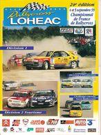 Programe Du Championnat De France De Rallycross LOUDEHAC 4/5 Sept 1999  Liste & Photos Des Pilotes 32 Pages - Boeken