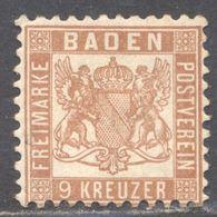 LOTE 1692  ///  (C130) ALEMANIA BADEN  YVERT Nº: 19 **MH GOMA ORIGINAL     CATALOG./COTE: 20€ - Baden