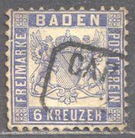 LOTE 1692  ///  (C130) ALEMANIA BADEN  YVERT Nº: 18 LUXE    CATALOG./COTE: 30€ - Baden