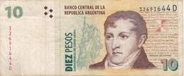 BILLETE DE ARGENTINA DE 10 PESOS CONVERTIBLES (BANKNOTE) - Argentina