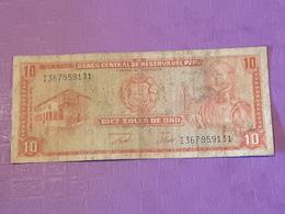 Perou 10 Soles De Oro 1973  P100c Circulé - Pérou