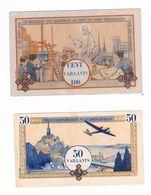 MONNAIE De SCOUTS . 1 Billet De 100 Vaillants + 1 Billet De 50 Vaillants ( 2 Photos ) - Scoutisme