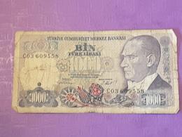 Turquie 1000 Lira  P196 Circulé - Turquie